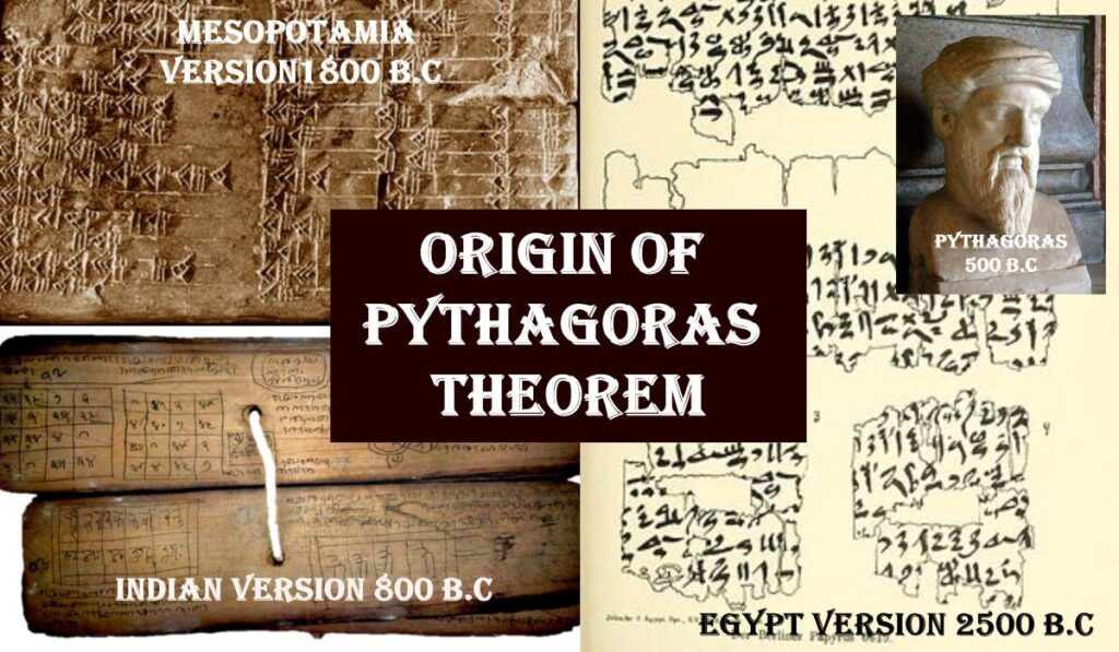 Origin of Pythagoras theorem